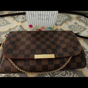Authentic Louis Vuitton Favourite MM Damier Ebene